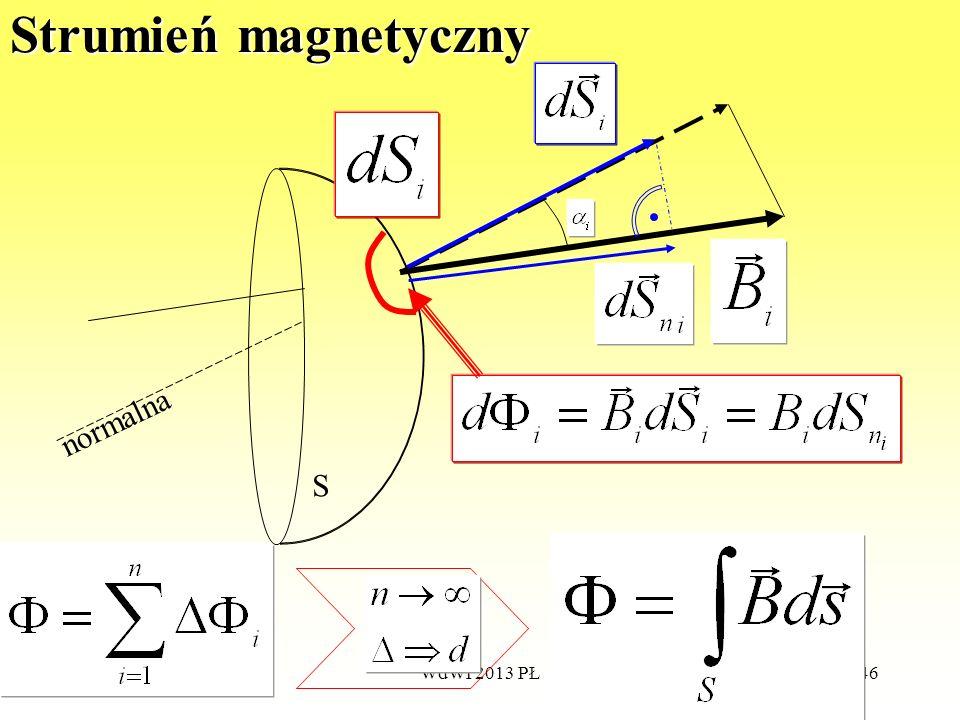 WdWI 2013 PŁ146 Strumień magnetyczny S normalna