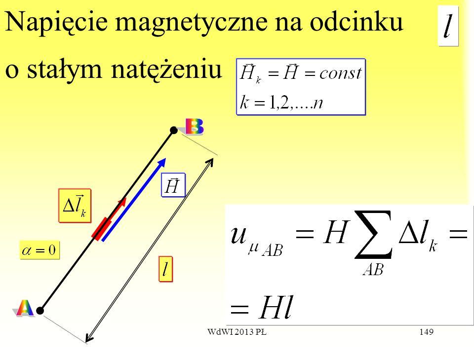 WdWI 2013 PŁ149 Napięcie magnetyczne na odcinku o stałym natężeniu