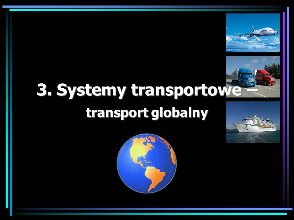 Transport międzynarodowy dr Marian Krupa Transport globalny – charakterystyka: Związane są z nim duże odległości, najczęściej wzrasta też liczba stron zaangażowanych w transport.