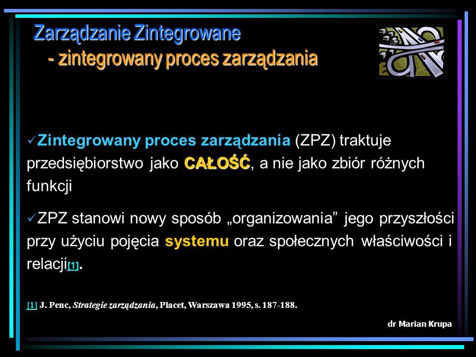 Optymalizacja kosztów zarządzania - struktura kosztów łącznych Poszczególne obszary zadań logistycznych w procesach funkcjonowania przedsiębiorstwa tw