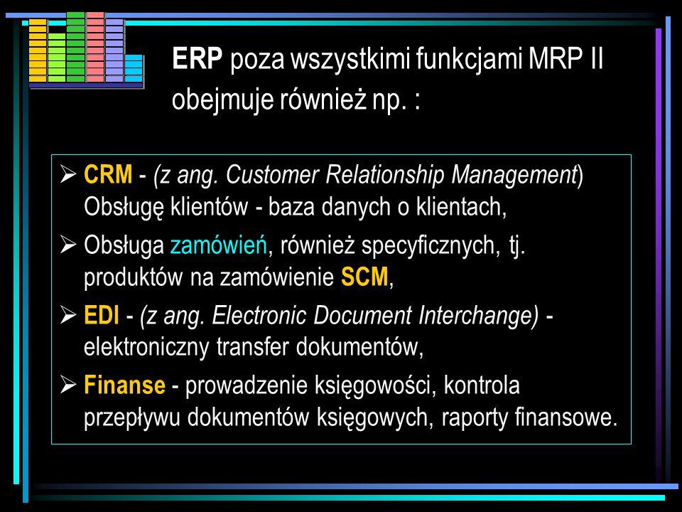 W ramach ERP informacje są uaktualniane w czasie rzeczywistym i dostępne w momencie podejmowania decyzji. ERP – (Enterprise Resource Plannig)