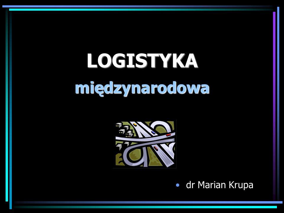 LOGISTYKA międzynarodowa dr Marian Krupa