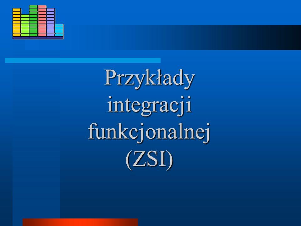 Przykłady integracji funkcjonalnej (ZSI)