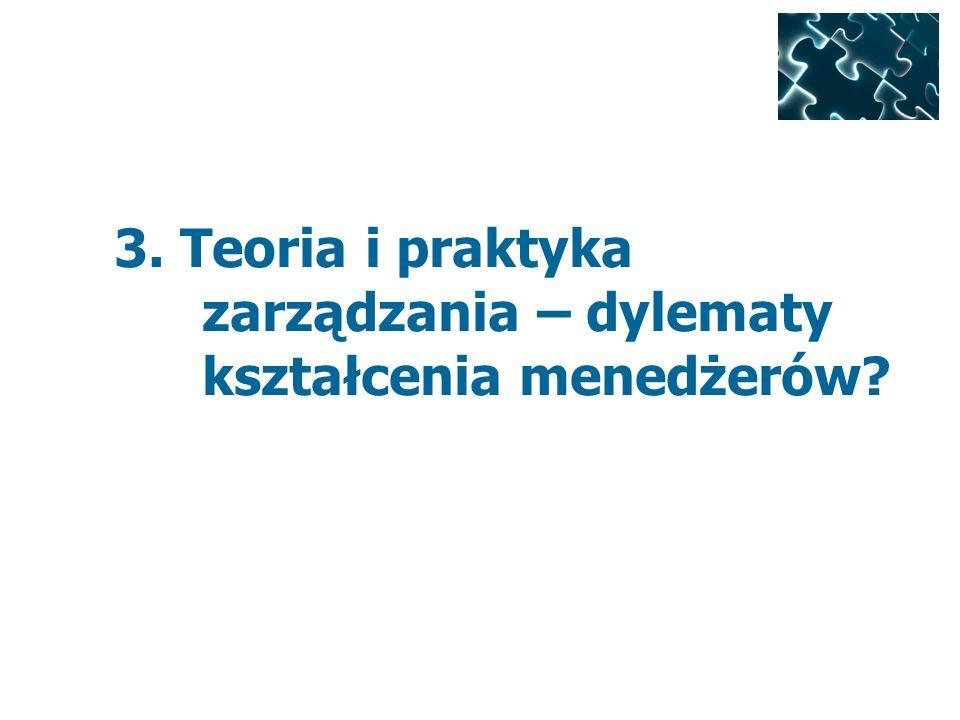 3. Teoria i praktyka zarządzania – dylematy kształcenia menedżerów?