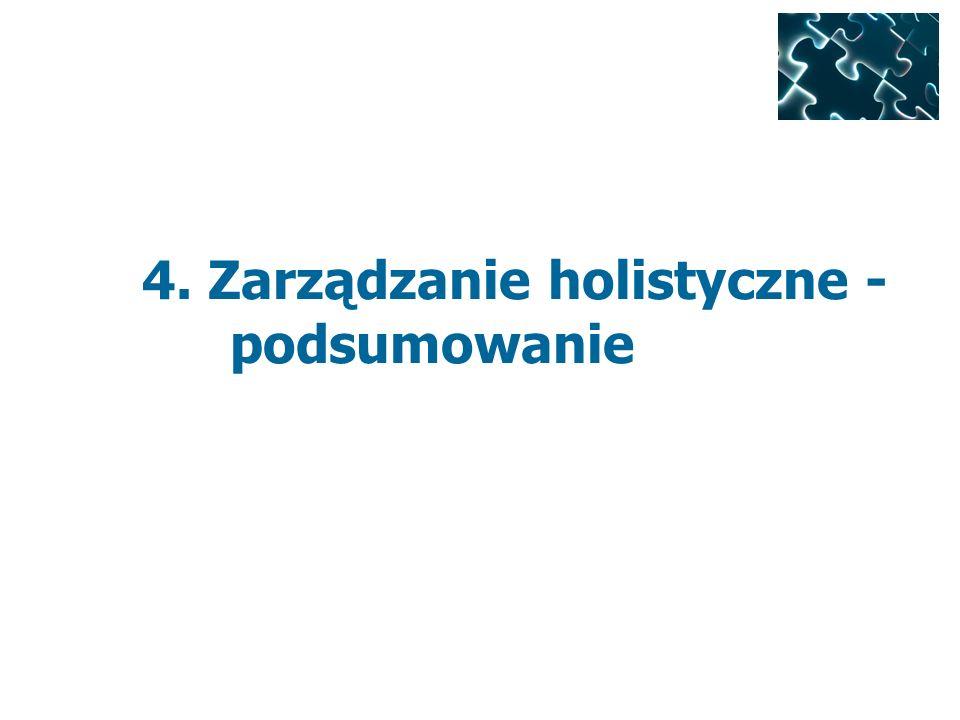 4. Zarządzanie holistyczne - podsumowanie