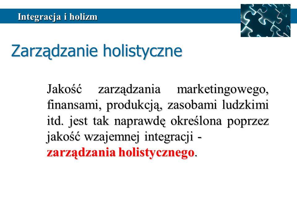 Jakość zarządzania marketingowego, finansami, produkcją, zasobami ludzkimi itd.