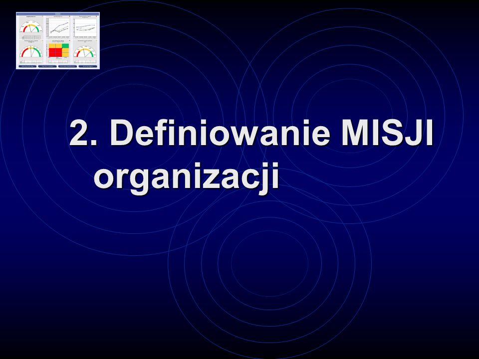 2. Definiowanie MISJI organizacji