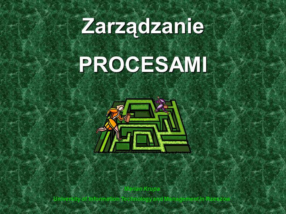 ZarządzaniePROCESAMI Marian Krupa University of Information Technology and Management in Rzeszow