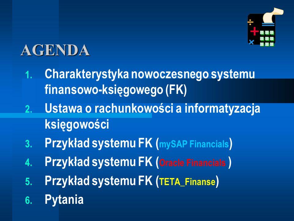 ZINTEGROWANE SYSTEMY FINANSOWE CHARAKTERYSTYKA SYSTEMU FINANSOWO- KSIĘGOWEGO dr Marian Krupa