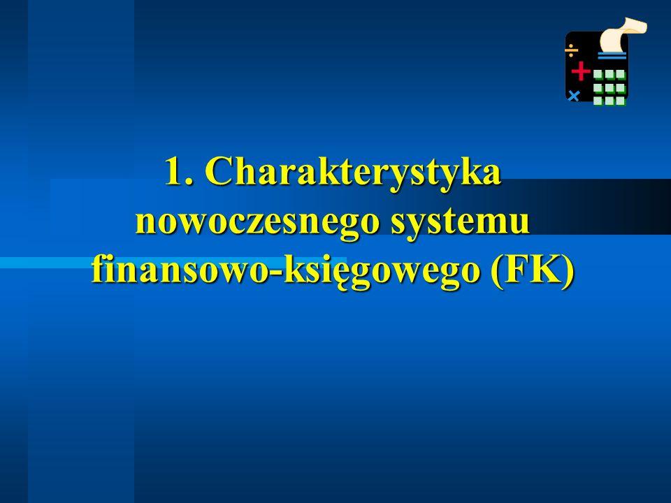 1. Charakterystyka nowoczesnego systemu finansowo-księgowego (FK)
