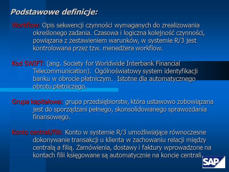 Podstawowe definicje: Księga: System wzajemnie powiązanych kont w celu opisania w systemie rachunkowości danych transakcyjnych realizowanych w przedsiębiorstwie.