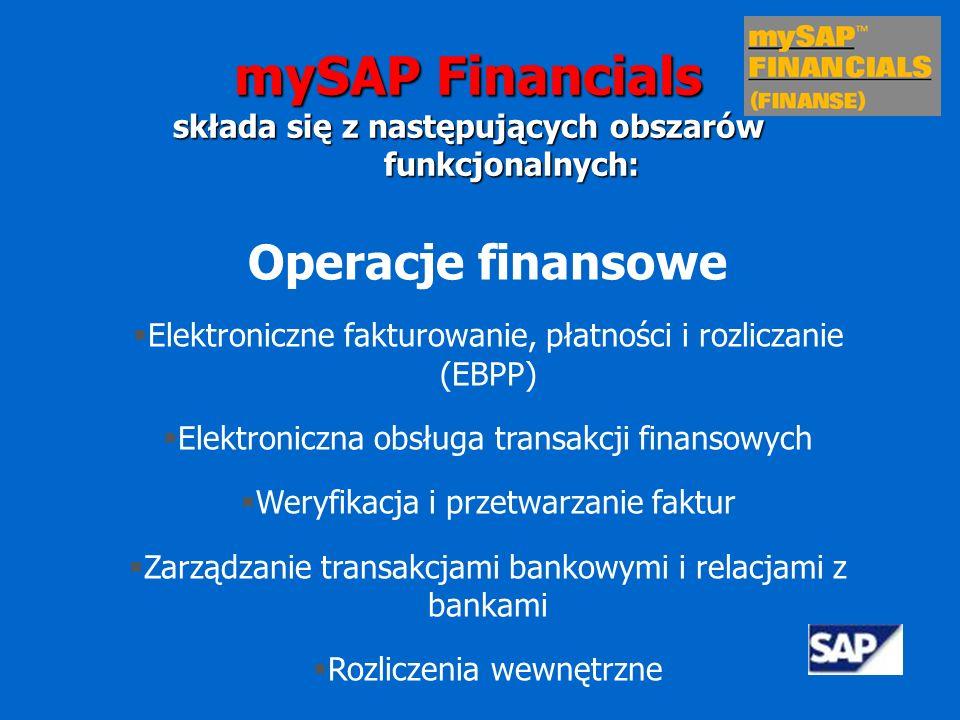 Opis funkcjonalności aplikacji finansowych w mySAP Financials (SAP R/3) mySAP Financials