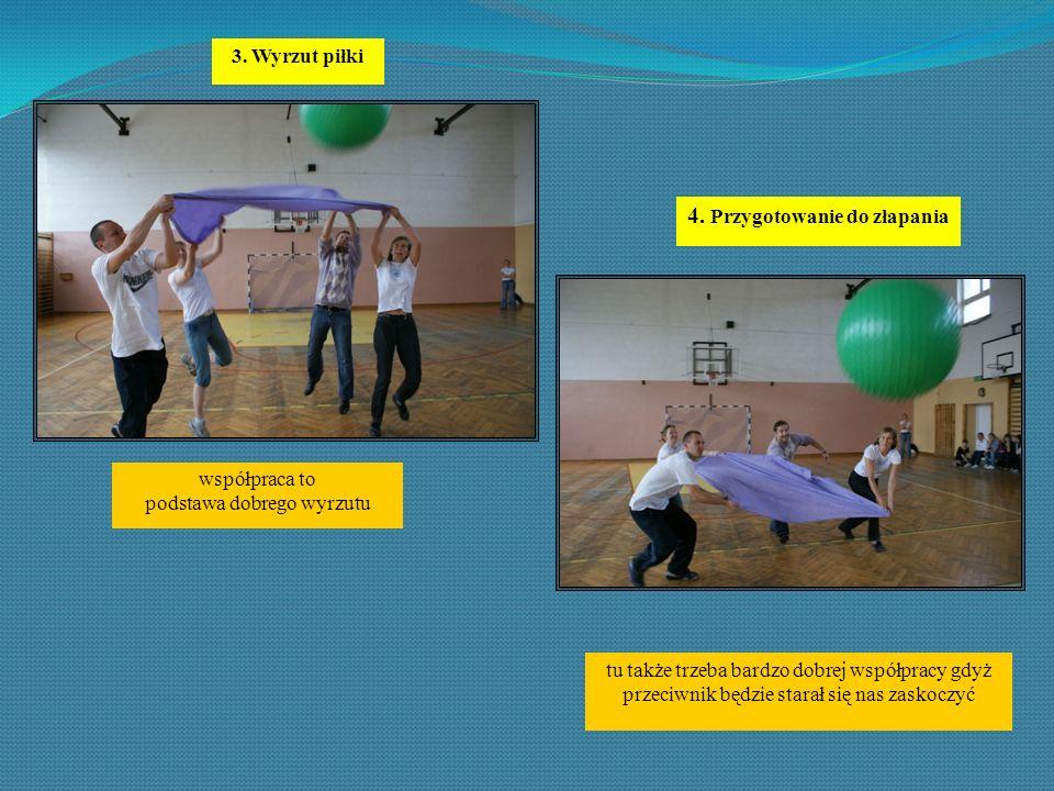 3. Wyrzut piłki współpraca to podstawa dobrego wyrzutu 4.