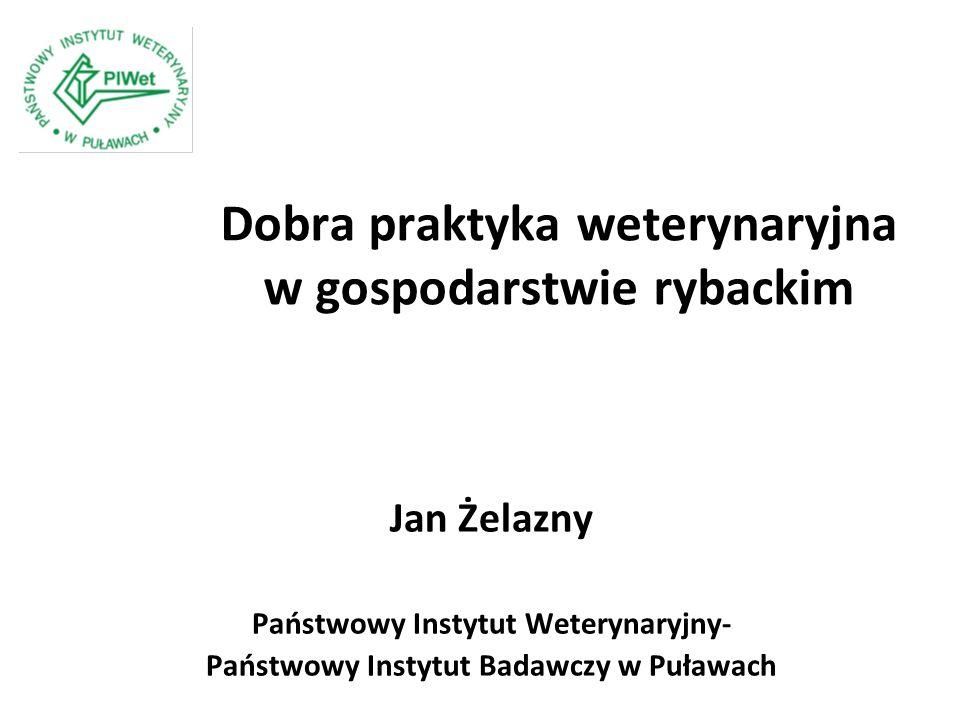 Dobra praktyka weterynaryjna w gospodarstwie rybackim Jan Żelazny Państwowy Instytut Weterynaryjny- Państwowy Instytut Badawczy w Puławach