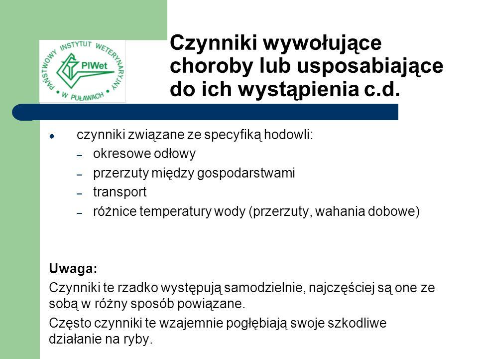 Diphyllobothrium latum (ryby drapieżne są żywicielem pośrednim, a człowiek, pies, kot, lis lub świnia ostatecznym), występuje w Polsce, głównie w jeziorach Mazur i Kujaw, al.