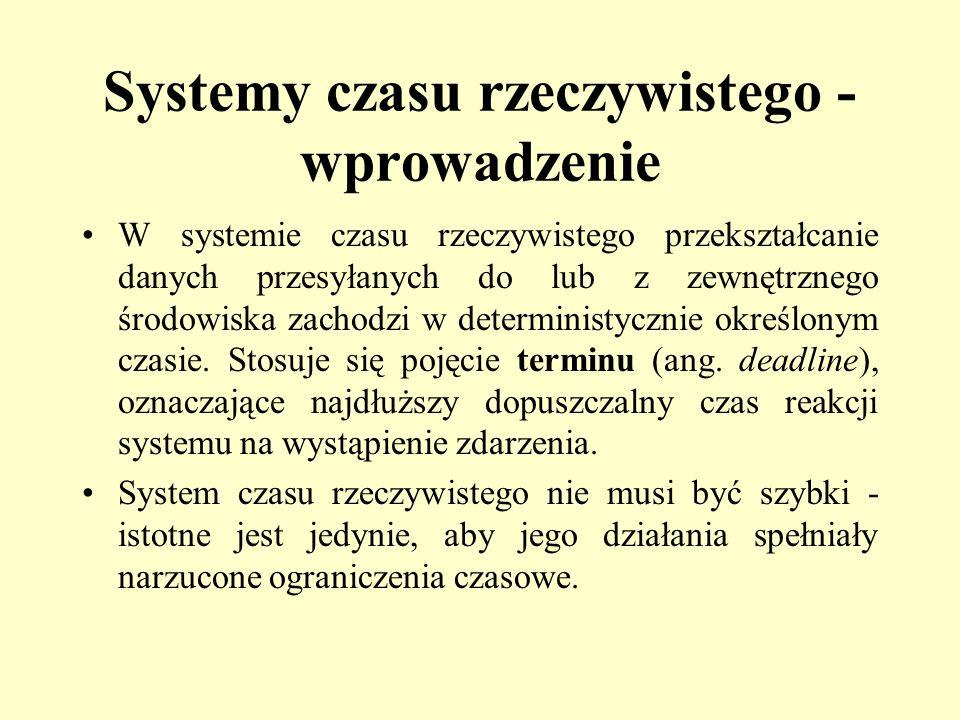 W systemie czasu rzeczywistego przekształcanie danych przesyłanych do lub z zewnętrznego środowiska zachodzi w deterministycznie określonym czasie. St