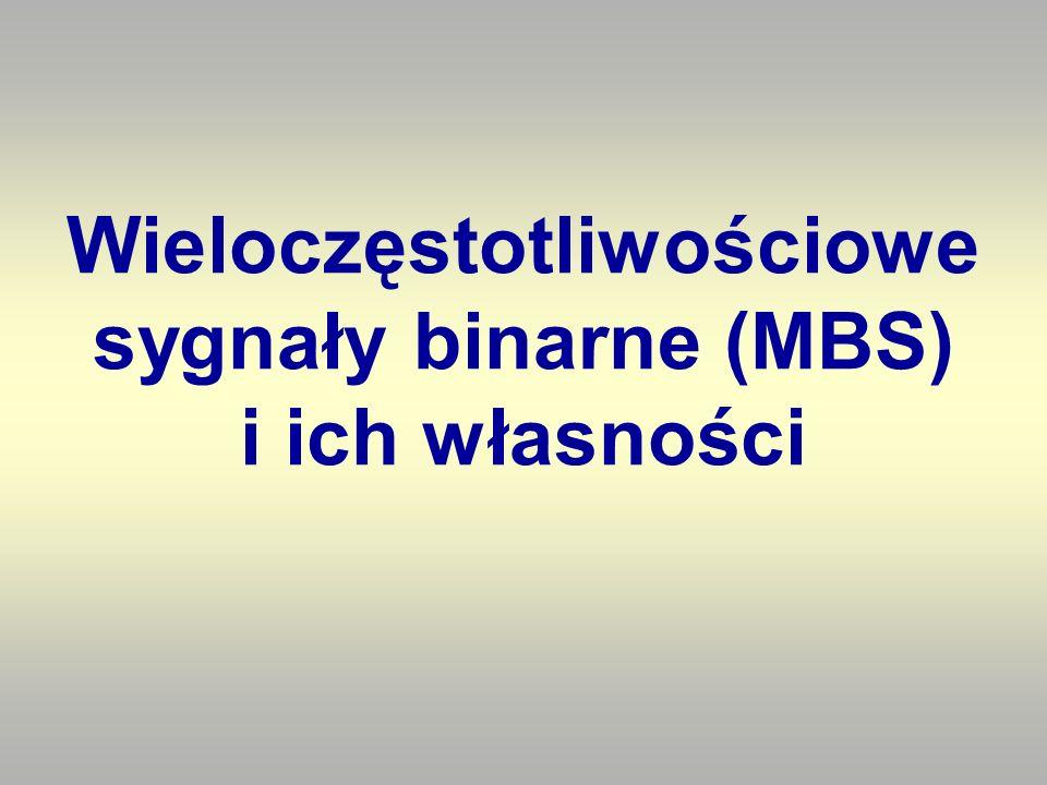 Wieloczęstotliwościowe sygnały binarne (MBS) i ich własności