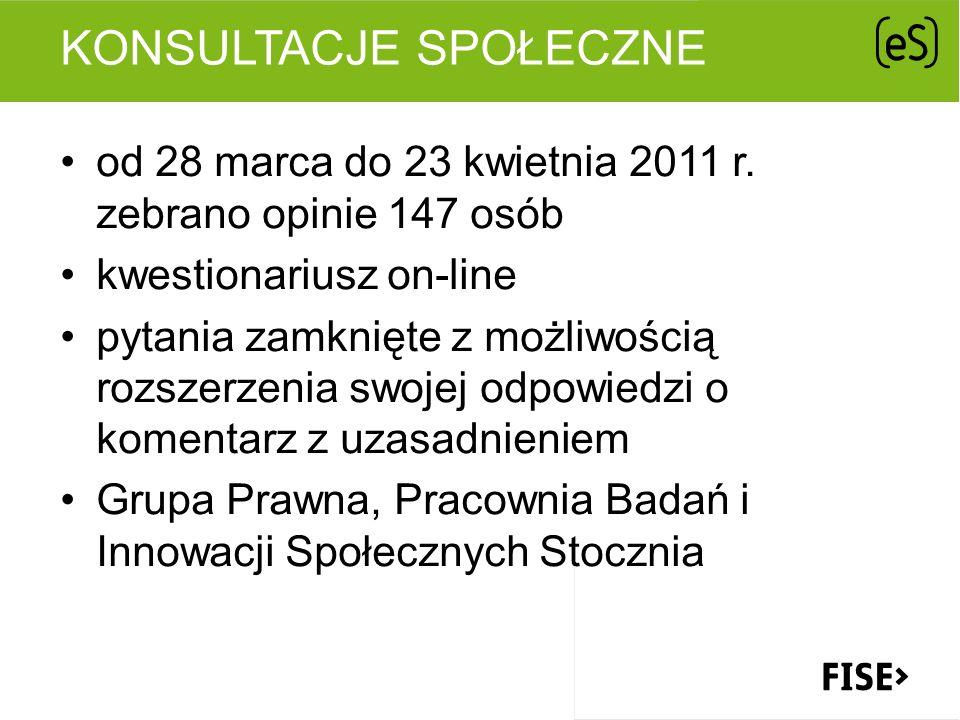 KONSULTACJE SPOŁECZNE od 28 marca do 23 kwietnia 2011 r.
