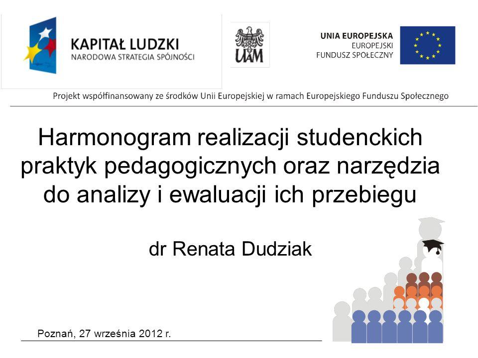 Studenckie praktyki pedagogiczne Dydaktyczne Psychologiczno- pedagogiczne