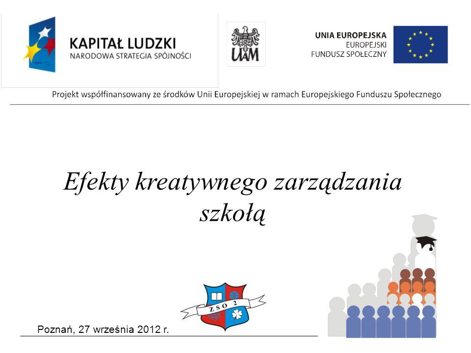 Poznań, 27 września 2012 r. Efekty kreatywnego zarządzania szkołą