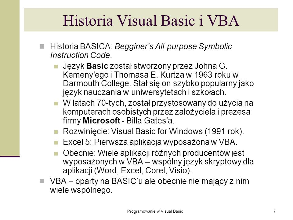 Programowanie w Visual Basic188 Errory Expected: An expected part of the syntax was not found.