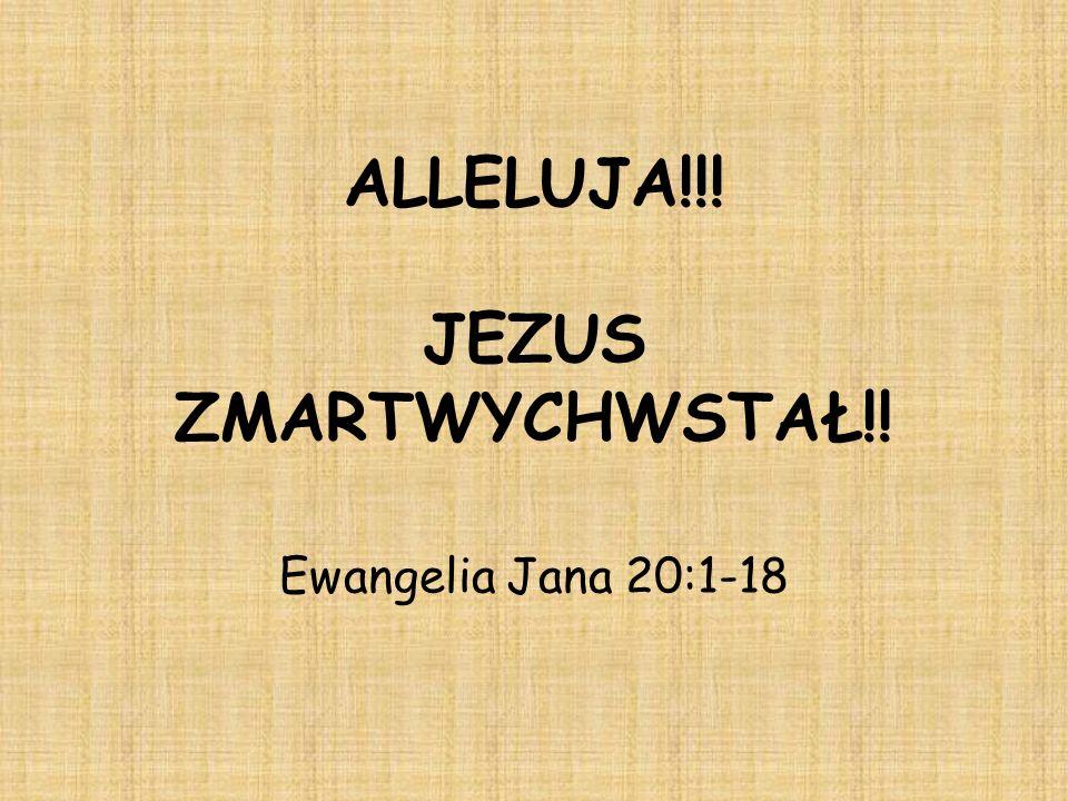 ALLELUJA!!! JEZUS ZMARTWYCHWSTAŁ!! Ewangelia Jana 20:1-18