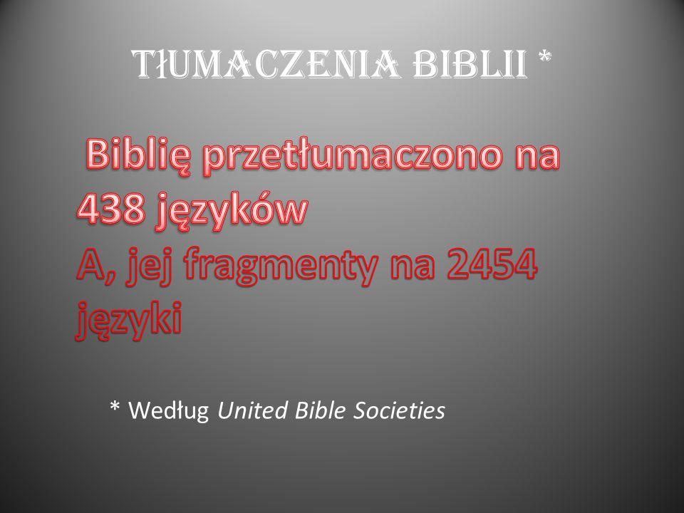 Regularnie czytaj Ą Bibli Ę * * Wg sondażu GfK Eurisko