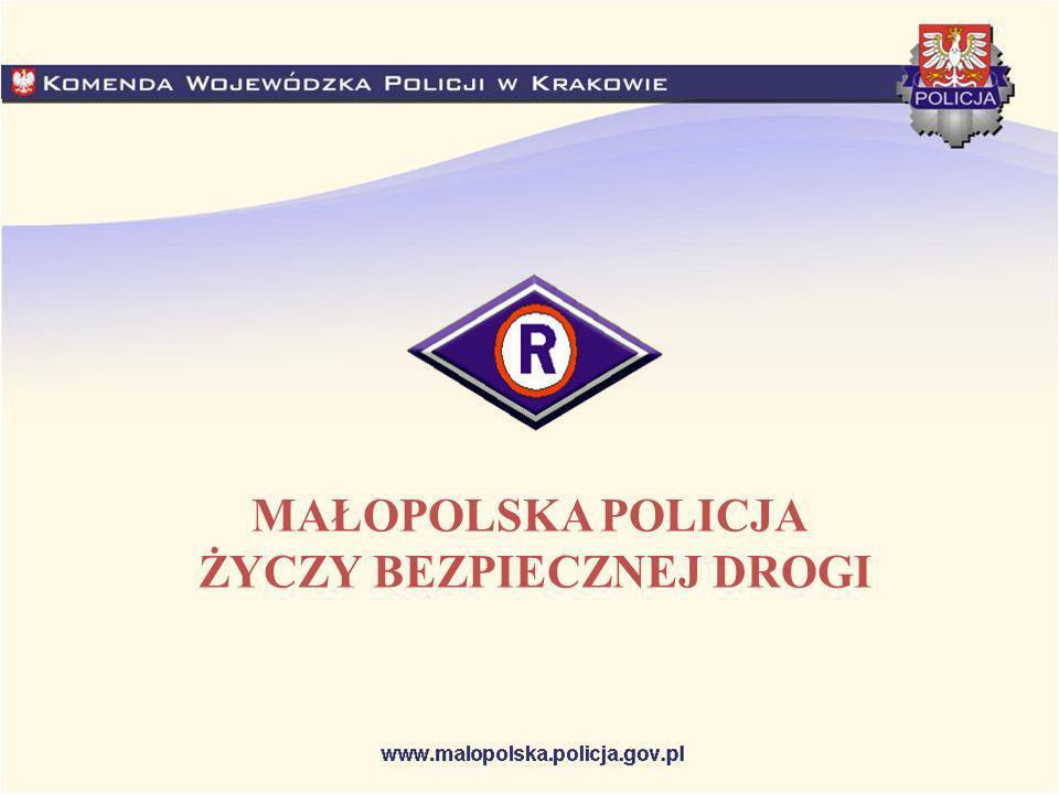MAŁOPOLSKA POLICJA ŻYCZY BEZPIECZNEJ DROGI