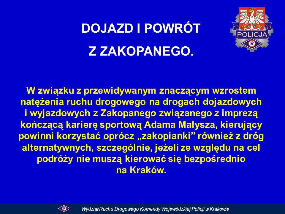 Na trasie głównej i trasach alternatywnych do Zakopanego nie ma większych utrudnień w ruchu z wyjątkiem drogi krajowej nr 7 tzw.