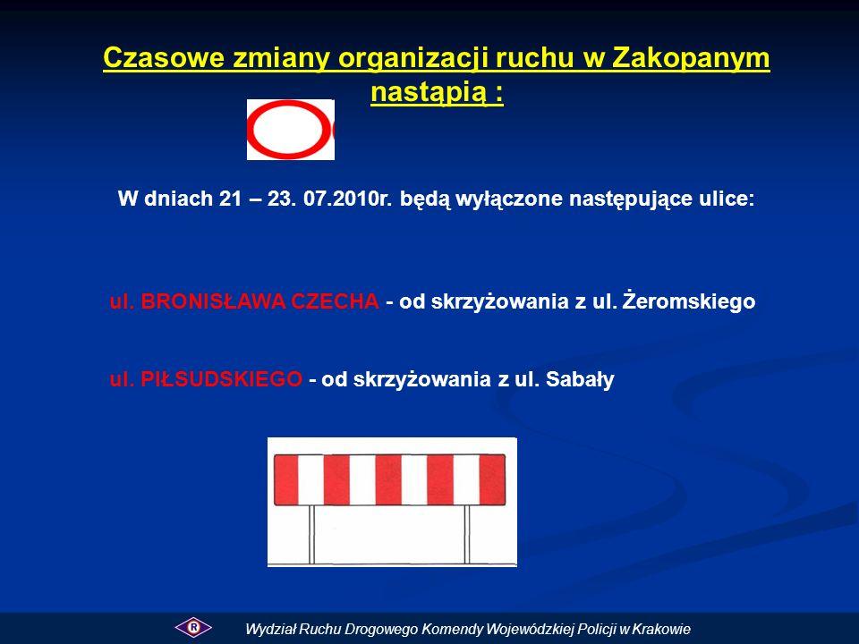Czasowe zmiany organizacji ruchu w Zakopanym nastąpią : W dniach 21 – 23.