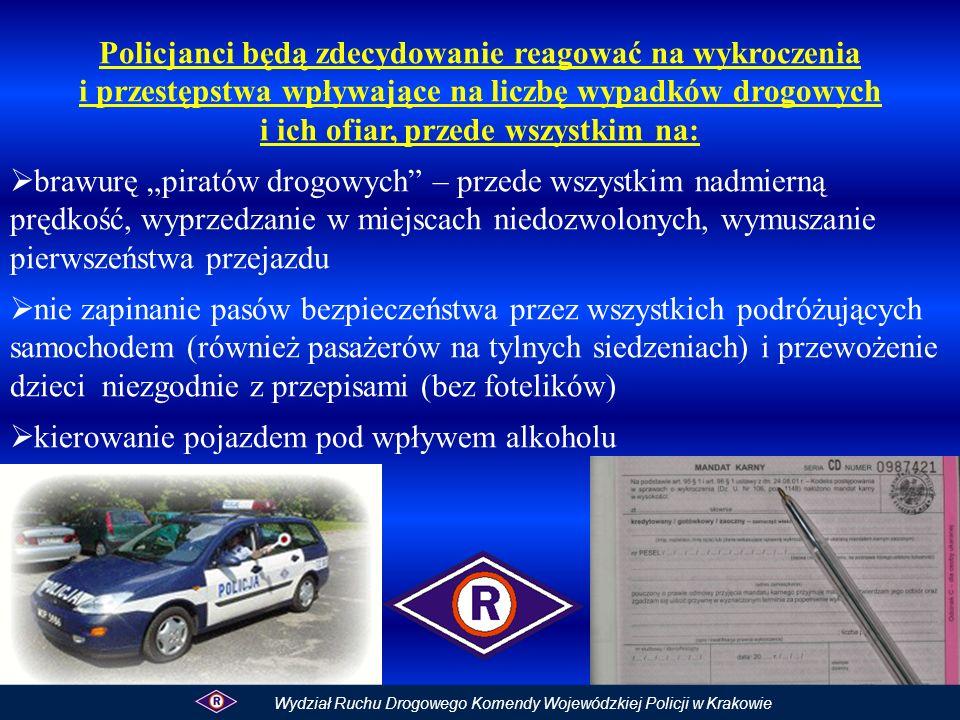 Utrudnienia na drogach krajowych w Małopolsce FERIE 2011 75 – Czchów 0,5 km uszkodzenia popowodziowe pobocze jest wyłączone z użytkowania; ograniczenie prędkości do 40 km/h i zakaz wyprzedzania 75 – Kokotów 0,3 km uszkodzenia popowodziowe połowa jezdni jest zamknięta, ruch odbywa się wahadłowo drugim pasem; ograniczenie prędkości do 40 km/h oraz zakaz wyprzedzania 79 – Krzeszowice 0,3 km budowa wiaduktu nad linią PKP ograniczenie prędkości do 40 km/h oraz zakaz wyprzedzania Wydział Ruchu Drogowego Komendy Wojewódzkiej Policji w Krakowie