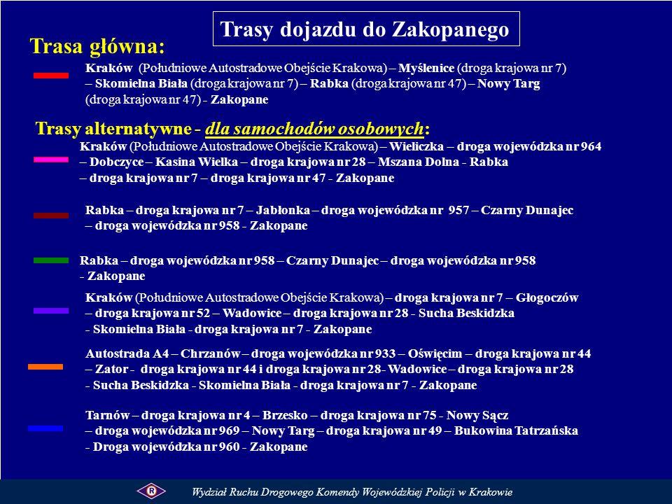 Kraków (Południowe Autostradowe Obejście Krakowa) – Myślenice (droga krajowa nr 7) – Skomielna Biała (droga krajowa nr 7) – Rabka (droga krajowa nr 47