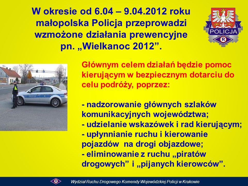W okresie od 6.04 – 9.04.2012 roku małopolska Policja przeprowadzi wzmożone działania prewencyjne pn. Wielkanoc 2012. Głównym celem działań będzie pom