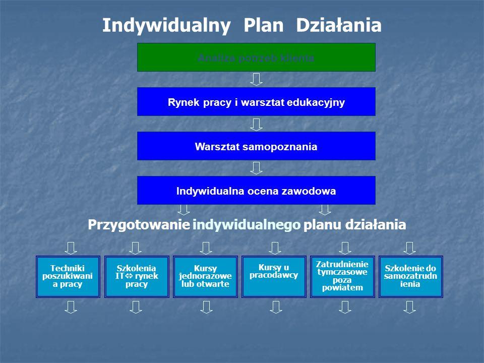 Indywidualny Plan Działania opis i schemat. Rynek pracy i warsztat edukacyjny Techniki poszukiwani a pracy Szkolenia IT rynek pracy Analiza potrzeb kl