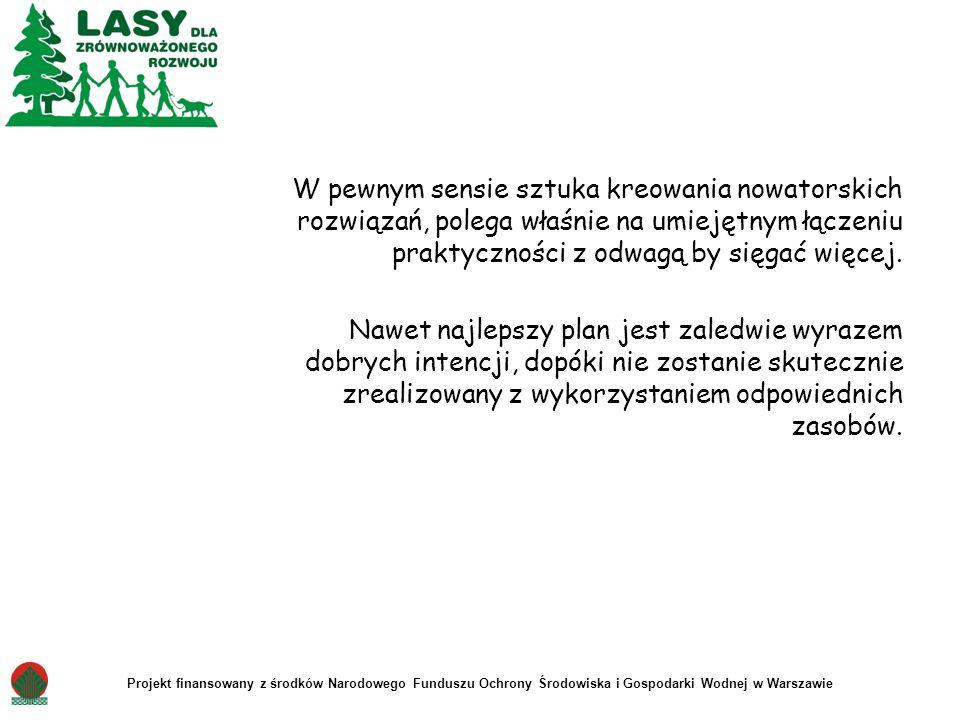 Projekt finansowany z środków Narodowego Funduszu Ochrony Środowiska i Gospodarki Wodnej w Warszawie W pewnym sensie sztuka kreowania nowatorskich roz