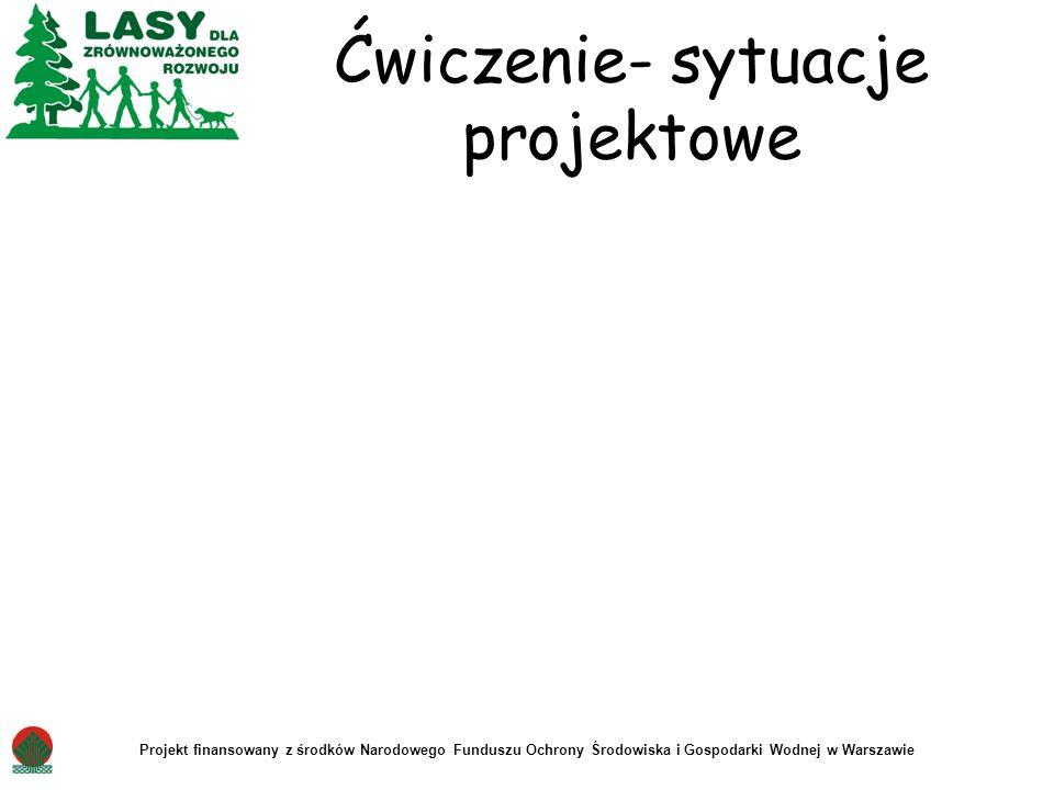 Ćwiczenie- sytuacje projektowe Projekt finansowany z środków Narodowego Funduszu Ochrony Środowiska i Gospodarki Wodnej w Warszawie