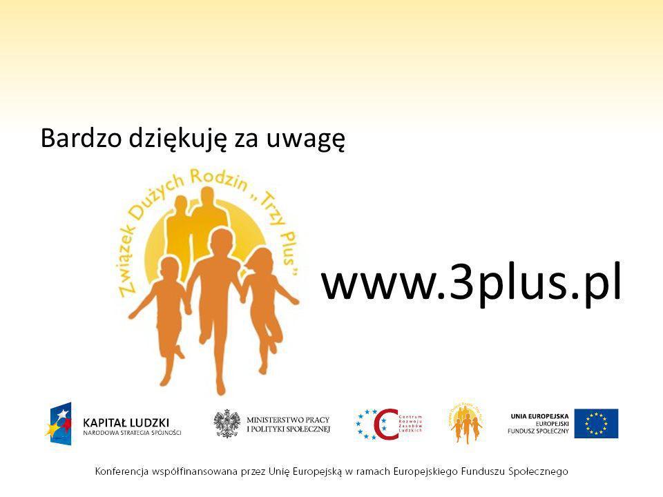 Bardzo dziękuję za uwagę www.3plus.pl