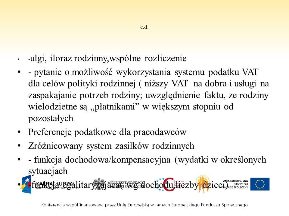 Propozycje rozwiązań c.d.