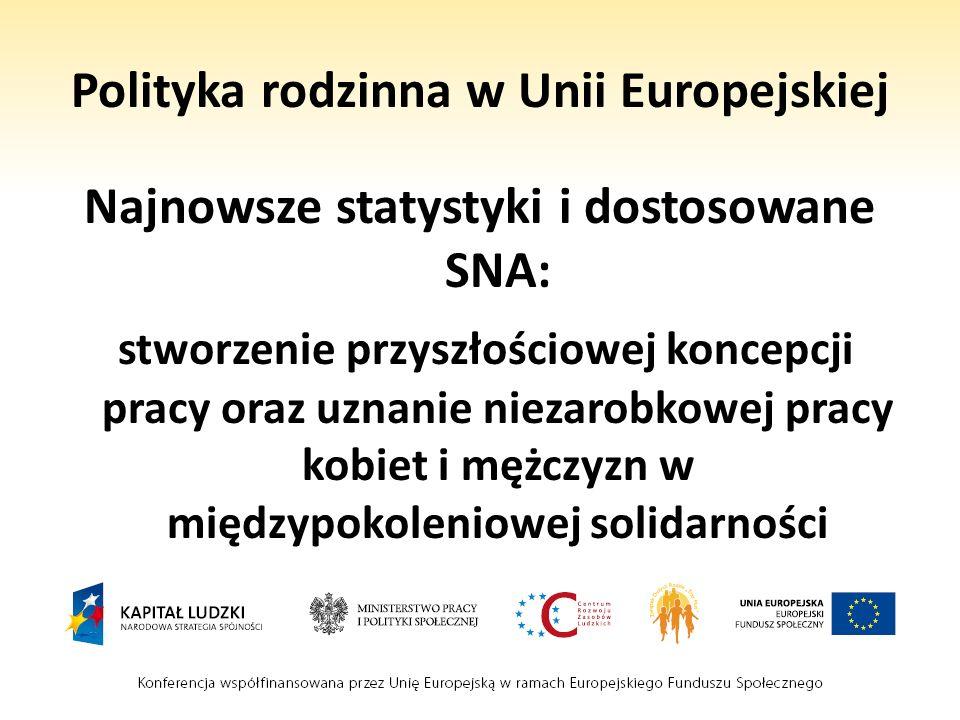 Polityka rodzinna w Unii Europejskiej Najnowsze statystyki i dostosowane SNA: stworzenie przyszłościowej koncepcji pracy oraz uznanie niezarobkowej pr