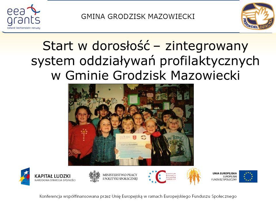 GMINA GRODZISK MAZOWIECKI Start w dorosłość – zintegrowany system oddziaływań profilaktycznych w Gminie Grodzisk Mazowiecki
