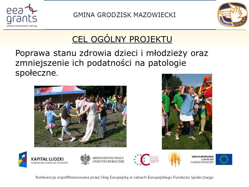 GMINA GRODZISK MAZOWIECKI Poprawa stanu zdrowia dzieci i młodzieży oraz zmniejszenie ich podatności na patologie społeczne.