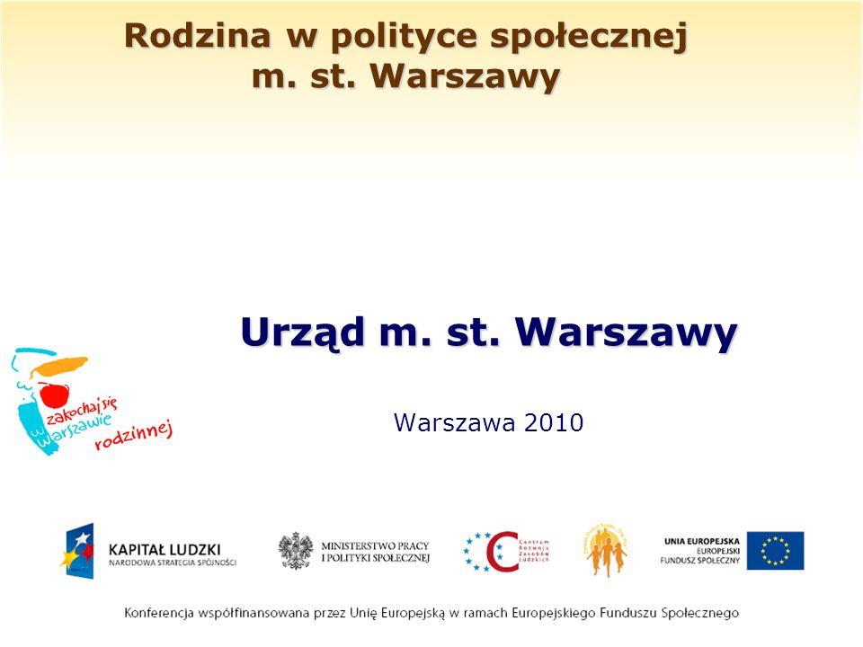 Rodzina w polityce społecznej m. st. Warszawy Urząd m. st. Warszawy Warszawa 2010