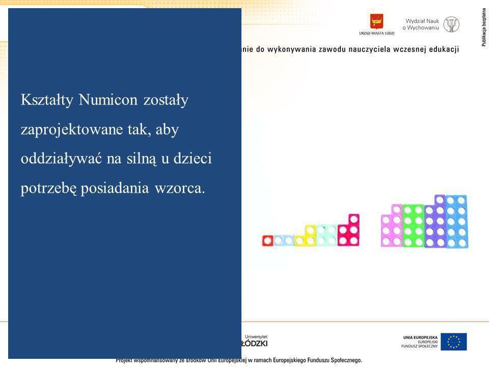 Kształty Numicon zostały zaprojektowane tak, aby oddziaływać na silną u dzieci potrzebę posiadania wzorca.