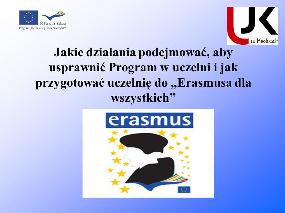 Jakie działania podejmować, aby usprawnić Program w uczelni i jak przygotować uczelnię do Erasmusa dla wszystkich