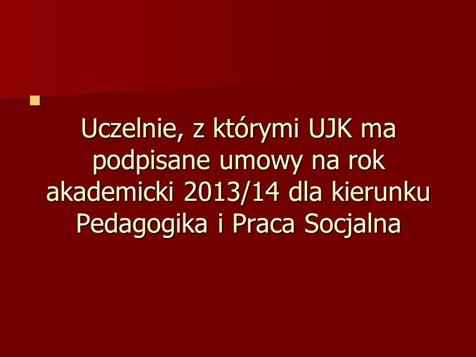 AUSTRIA Padagigische Hochschule Karoten/Viktor Frankl Hochschule CZECHY Univerrzita Palackeho w Olomoucu CZECHY Uniwersytet Karola w Pradze CZECHY Uniwersytet w Ostrawie