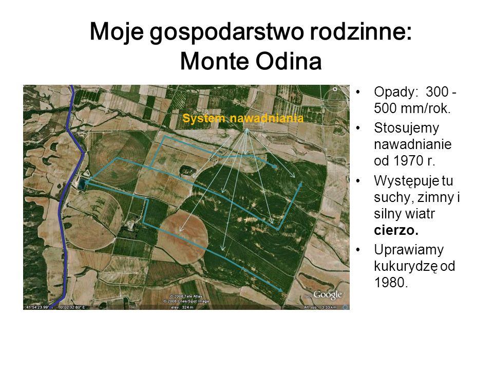 Moje gospodarstwo rodzinne: Monte Odina Opady: 300 - 500 mm/rok.