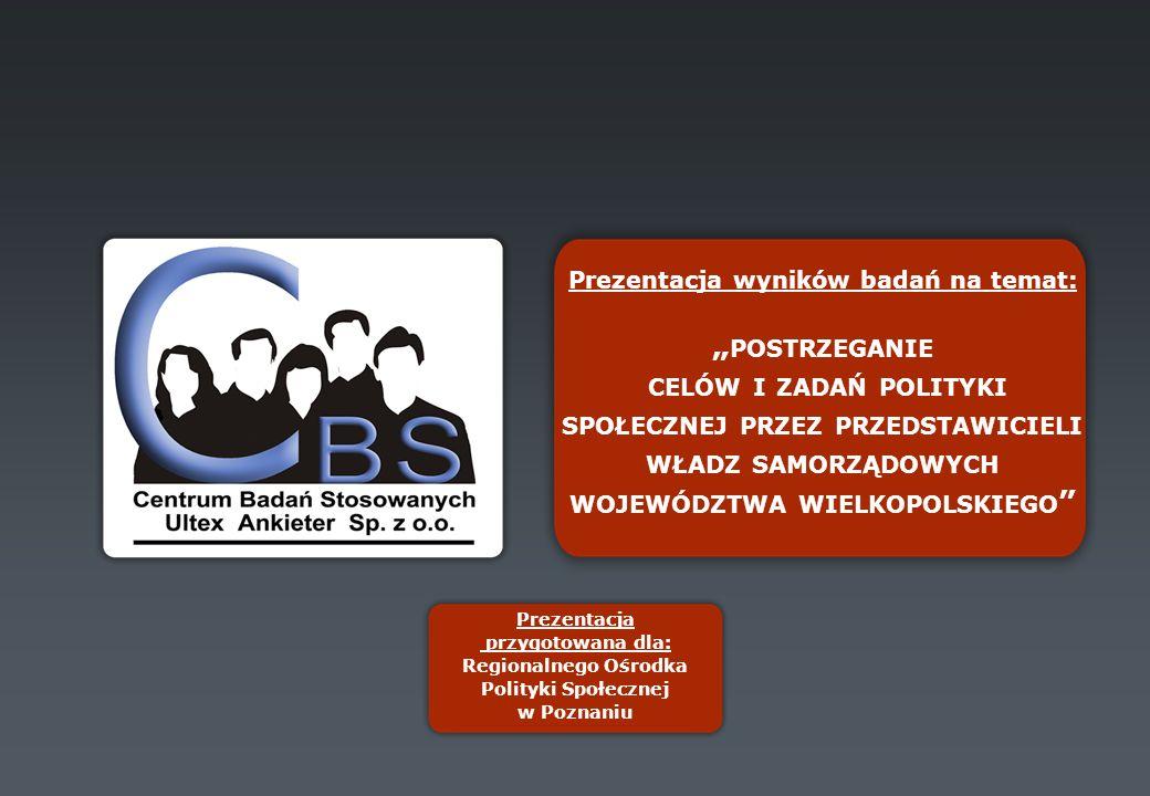 ZADANIA REGIONALNEJ POLITYKI SPOŁECZNEJ, KTÓRE POWINNY BYĆ WSPIERANE PRZEZ BUDŻET CENTRALNY (CAŁKOWICIE i CZĘŚCIOWO) Wywiady z decydentami wojewódzkimi Wywiady z osobami reprezentującymi instytucje samorządowe powiatów województwa wielkopolskiego