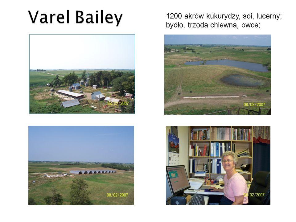 2500 akrów kukurydzy, soi, lucerny; bydła opasowe, chów bydła mięsnego Specjalistyczna produkcja przemysłowa/biotechnologiczna Uniwersytet Stanowy Iowa