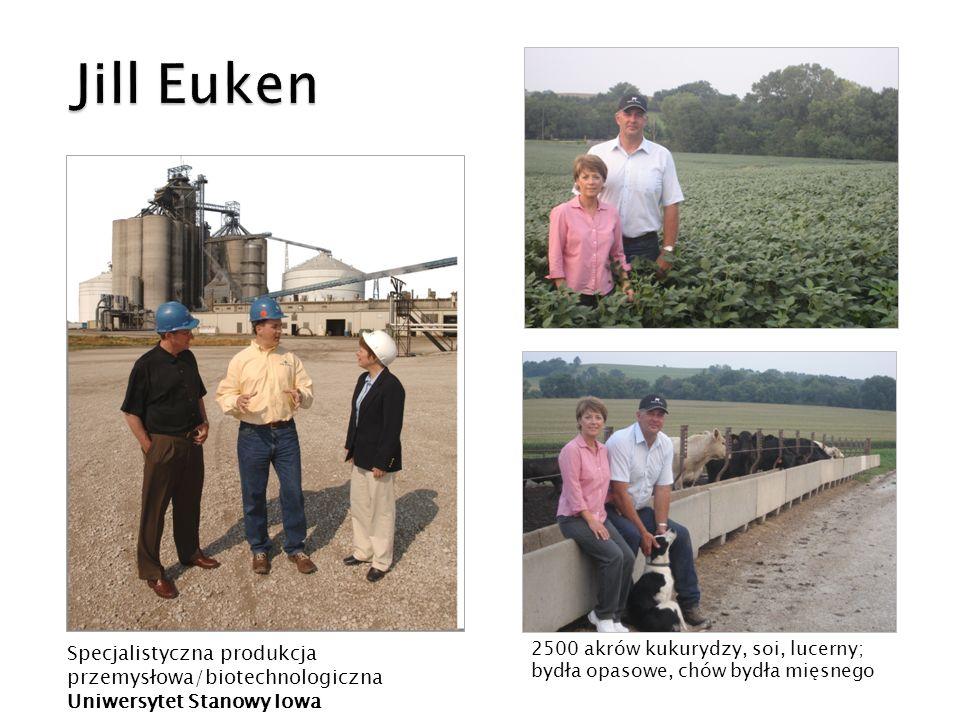 2500 akrów kukurydzy, soi, lucerny; bydła opasowe, chów bydła mięsnego Specjalistyczna produkcja przemysłowa/biotechnologiczna Uniwersytet Stanowy Iow
