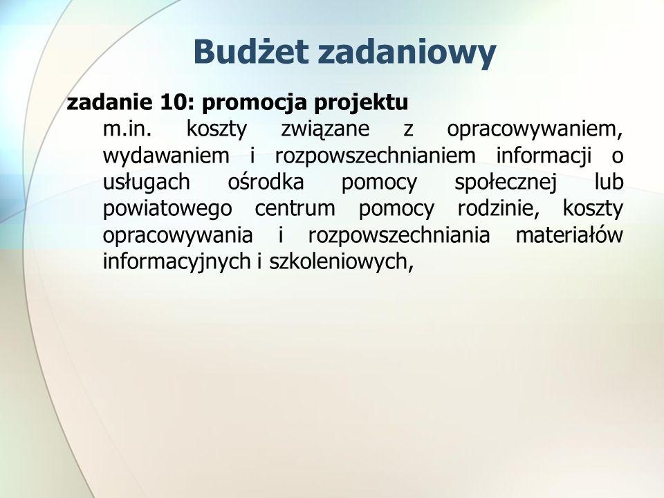 zadanie 10: promocja projektu m.in.